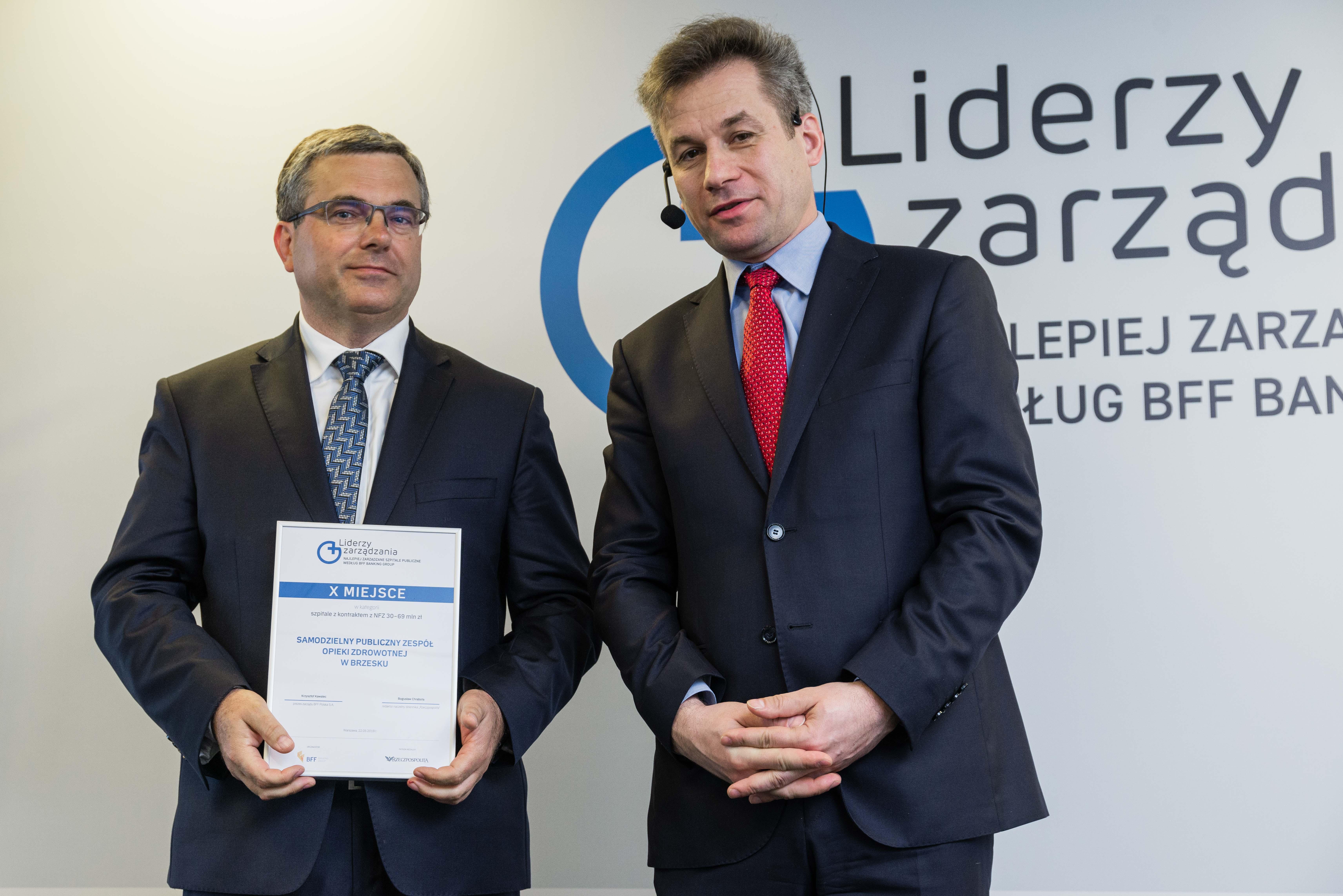 Wręczenie nagrod Liderzy zarządzania według BFF