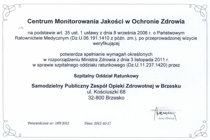 Centrum monitorowania jakości w ochronie zdrowia