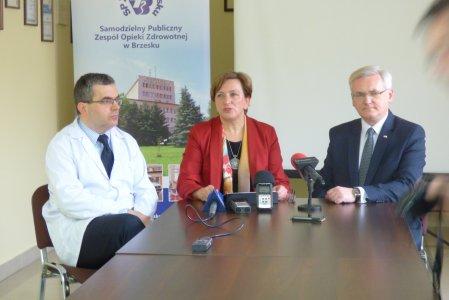 Wizyta Wiceministra Zdrowia Józefy Szczurek-Żelazko w brzeskim szpitalu