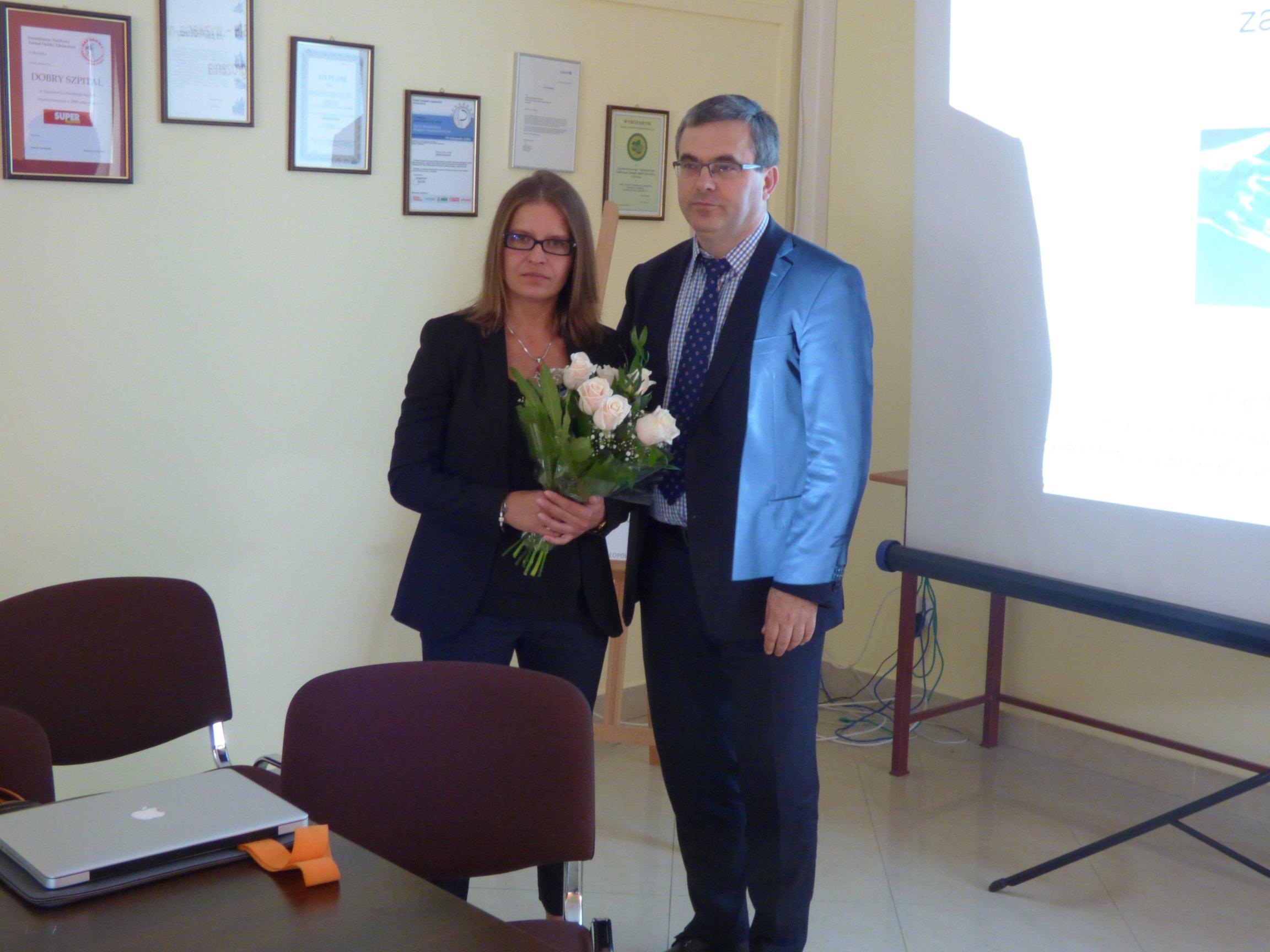 Brzeski szpital gościł Panią Profesor Magdalenę Kucię